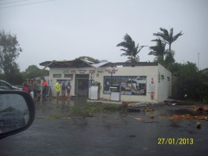 Burnett Heads Caravan Shop destroyed by a tornado